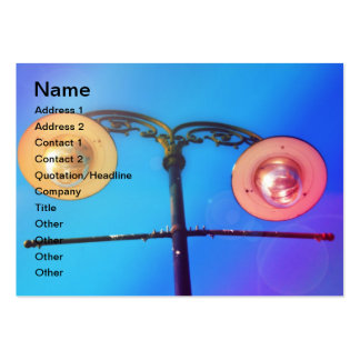 Street lamps business card templates