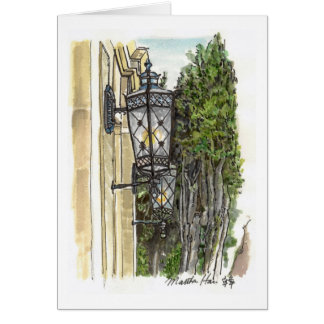 Street lamps greeting card