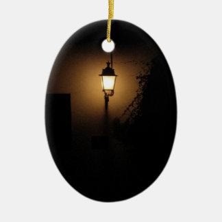 Street Lantern Night Lamp Oval Ornament