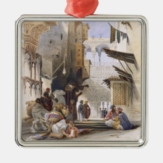 Street Leading to El Azhar, Grand Cairo, pub. 1846 Christmas Ornament