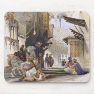 Street Leading to El Azhar, Grand Cairo, pub. 1846 Mouse Mat