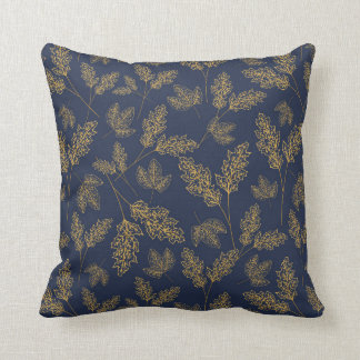 Street Leaves Polyester Throw Pillow