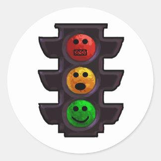 Street Light Moods Classic Round Sticker