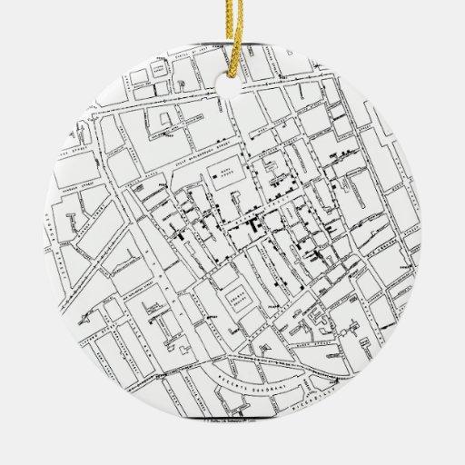 STREET MAP ORNAMENTS