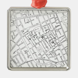 STREET MAP Silver-Colored SQUARE DECORATION