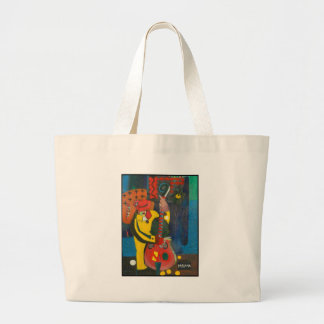 street musician jumbo tote bag
