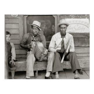 Street Musicians, 1938 Postcard