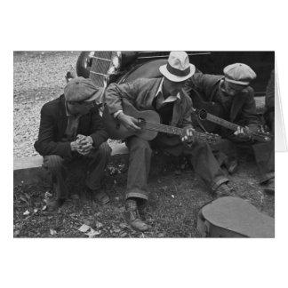 Street musicians, Maynardville, Tennessee, 1935 Card
