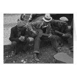 Street musicians, Maynardville, Tennessee, 1935 Greeting Card
