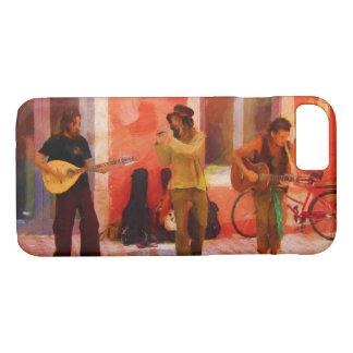 Street Musicians Playing Guitar Mandolin and Flute iPhone 7 Case