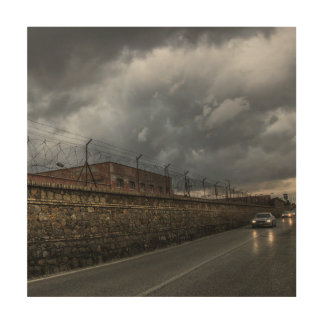street of military town wood canvases
