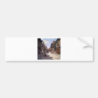 Street of the Bavolle Honfleur by Claude Monet Bumper Sticker