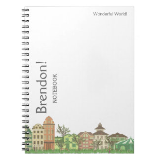 Street of the city Spiral Photo Notebook