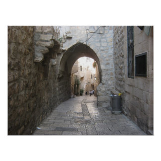 Street old city Jerusalem Posters