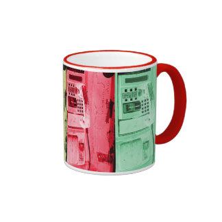 street payphone cofee mug