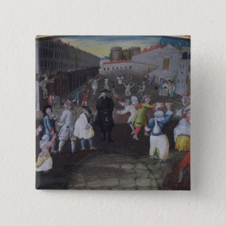 Street Performers at the Carnival Populaire 15 Cm Square Badge