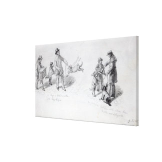 Street Performers, c.1839-43 Canvas Print