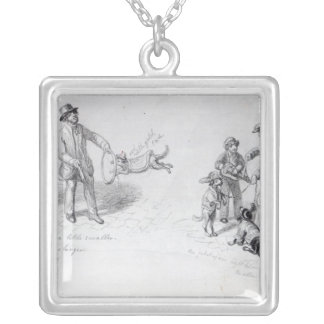 Street Performers, c.1839-43 Silver Plated Necklace
