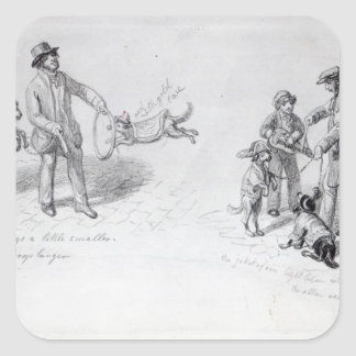 Street Performers, c.1839-43 Square Sticker