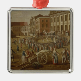 Street performers in the Alter Markt, 1771 Christmas Ornament