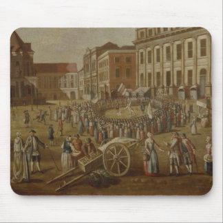 Street performers in the Alter Markt, 1771 Mouse Mat