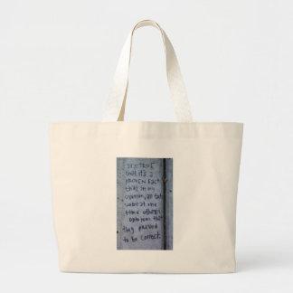 Street Philosophy Jumbo Tote Bag