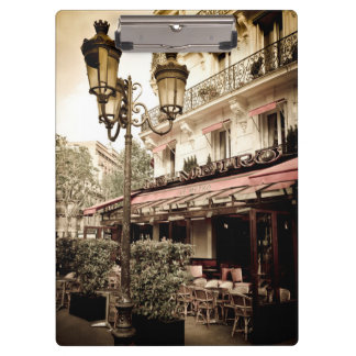Street restaurant, Paris, France Clipboard