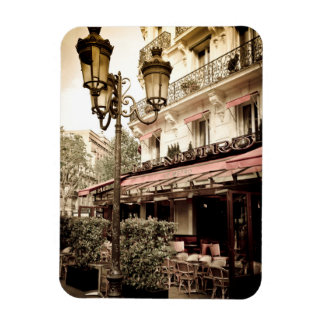 Street restaurant, Paris, France Rectangular Photo Magnet