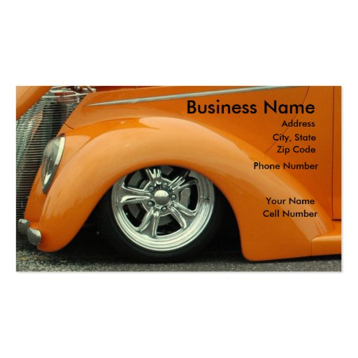 Street Rod Business Card