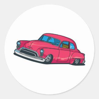 Street Rod Classic Round Sticker