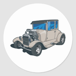 Street Rods Round Sticker