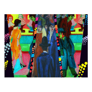 Street Scene by Ernst Ludwig Kirchner Postcard