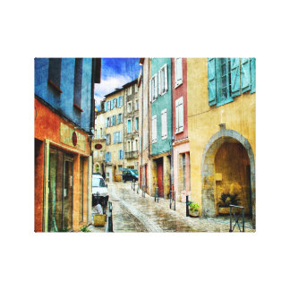 Street Scene European Canvas Print