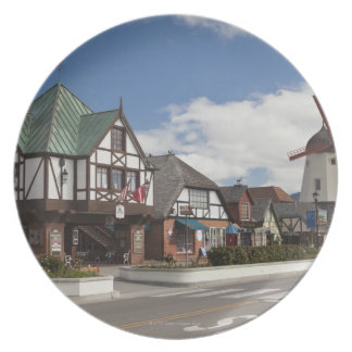 Street Scene from historic Solvang, 'The Danish Plate