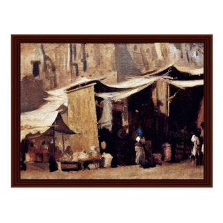 Street Scene In Algiers By Buchser Frank Postcard