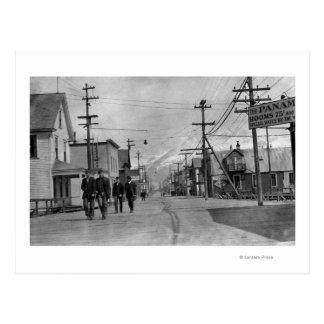 Street Scene in Valdez, Alaska Photograph Postcard
