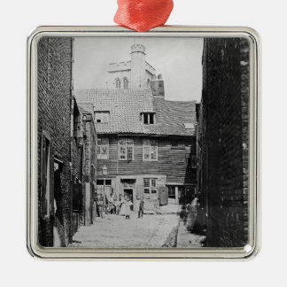 Street scene in Victorian London Christmas Ornament