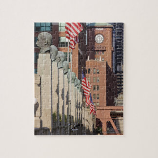 Street Scene outside the Chicago Merchandise Jigsaw Puzzle