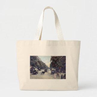 Street Scene, Paris, France c1915 Vintage Jumbo Tote Bag