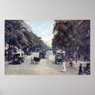 Street Scene, Paris, France c1915 Vintage Poster