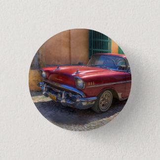 Street scene with old car in Havana 3 Cm Round Badge