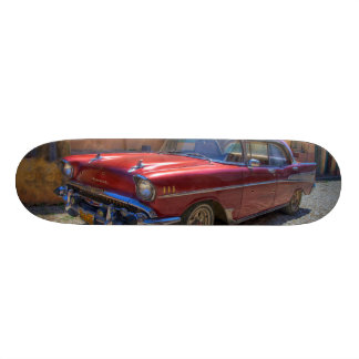Street scene with old car in Havana Skateboard Deck