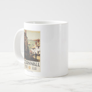 Street Scene with Two Men Working Railway Large Coffee Mug