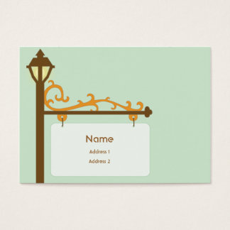 Street Sign - Chubby Business Card