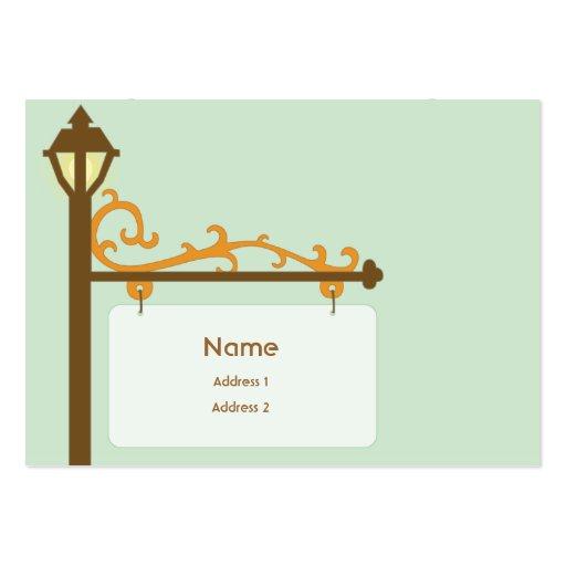 Street Sign - Chubby Business Card