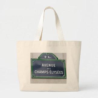 Street sign of Paris Jumbo Tote Bag
