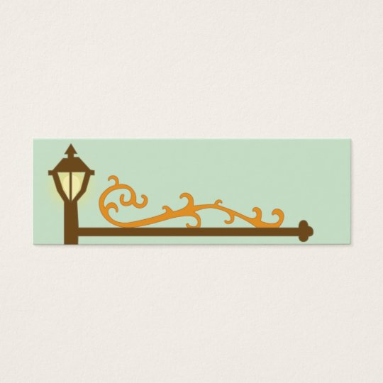 Street Sign - Skinny Mini Business Card