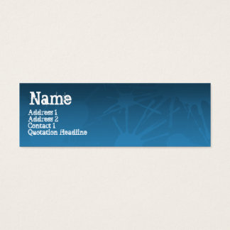 STREET SPLATTER blue Mini Business Card