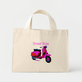 Street Style Scooter Mini Tote Bag