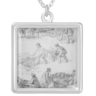 Street Traders, London, 1842 Silver Plated Necklace